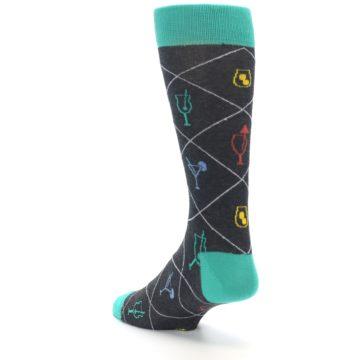 Image of Multi-Color Cocktail Men's Dress Socks (side-2-back-15)