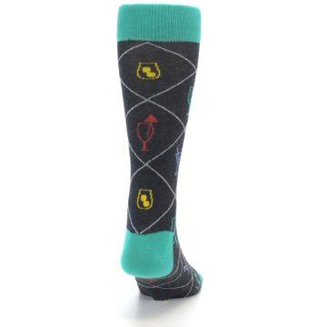 Image of Multi-Color Cocktail Men's Dress Socks (back-19)