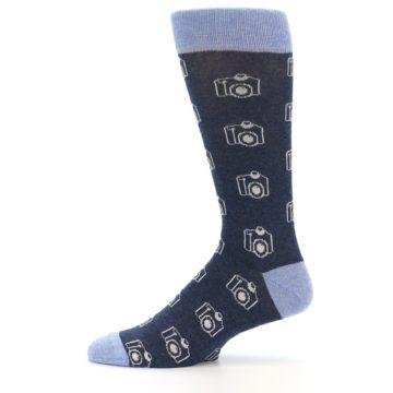 Image of Heathered Blue Photography Camera Men's Dress Socks (side-2-11)