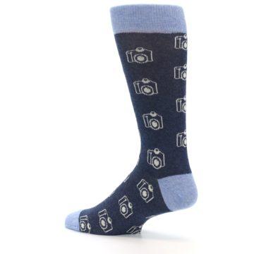 Image of Heathered Blue Photography Camera Men's Dress Socks (side-2-13)