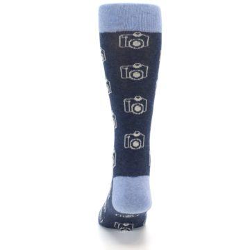 Image of Heathered Blue Photography Camera Men's Dress Socks (back-17)