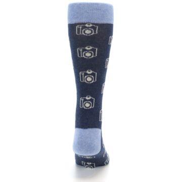 Image of Heathered Blue Photography Camera Men's Dress Socks (back-18)
