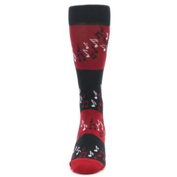 Image of Red Singing Music Notes Men's Dress Socks (front-05)