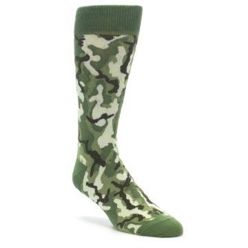 Green Camouflage Socks for Men