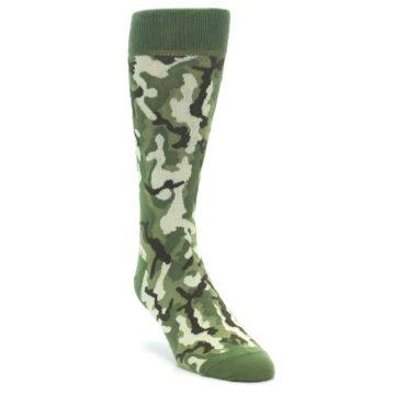 Image of Greens Camouflage Men's Dress Socks (side-1-front-02)