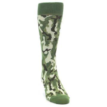 Image of Greens Camouflage Men's Dress Socks (side-1-front-03)