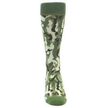 Image of Greens Camouflage Men's Dress Socks (front-04)