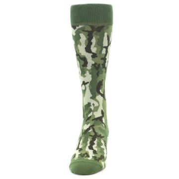 Image of Greens Camouflage Men's Dress Socks (front-05)