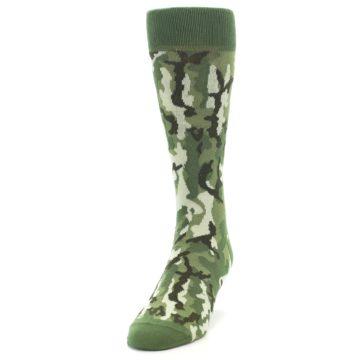 Image of Greens Camouflage Men's Dress Socks (side-2-front-06)