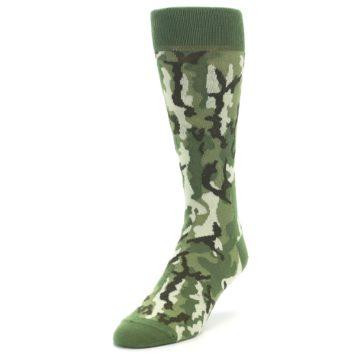 Image of Greens Camouflage Men's Dress Socks (side-2-front-07)