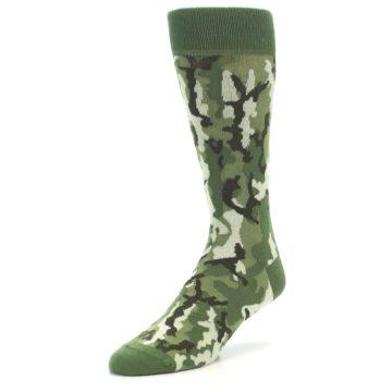 Image of Greens Camouflage Men's Dress Socks (side-2-front-08)