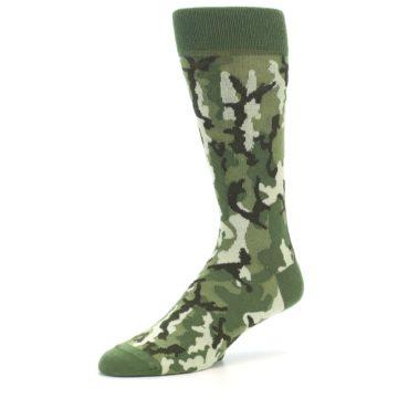 Image of Greens Camouflage Men's Dress Socks (side-2-09)
