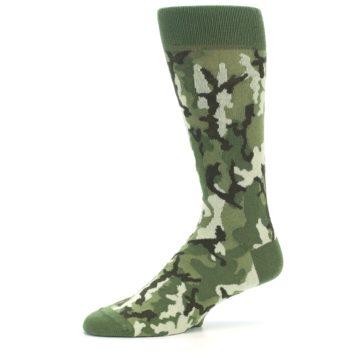 Image of Greens Camouflage Men's Dress Socks (side-2-10)