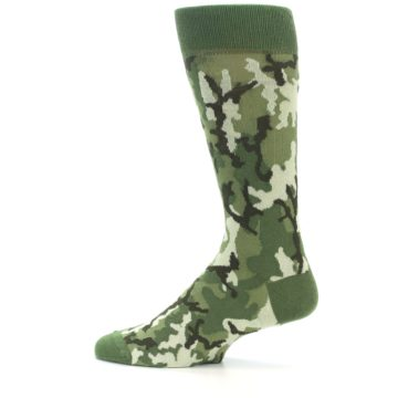 Image of Greens Camouflage Men's Dress Socks (side-2-12)