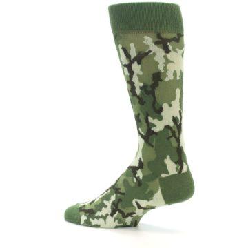 Image of Greens Camouflage Men's Dress Socks (side-2-13)