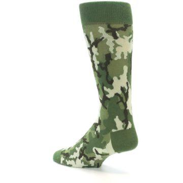 Image of Greens Camouflage Men's Dress Socks (side-2-back-14)