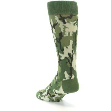 Image of Greens Camouflage Men's Dress Socks (side-2-back-15)