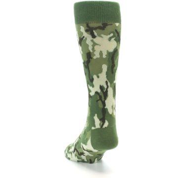 Image of Greens Camouflage Men's Dress Socks (side-2-back-16)