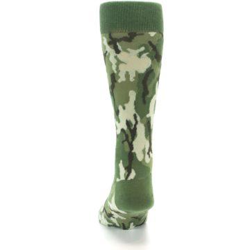 Image of Greens Camouflage Men's Dress Socks (back-17)