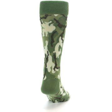 Image of Greens Camouflage Men's Dress Socks (back-19)