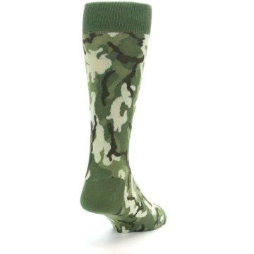 Image of Greens Camouflage Men's Dress Socks (side-1-back-20)