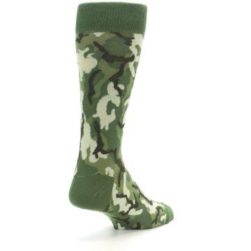Image of Greens Camouflage Men's Dress Socks (side-1-back-21)