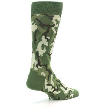 Image of Greens Camouflage Men's Dress Socks (side-1-back-22)