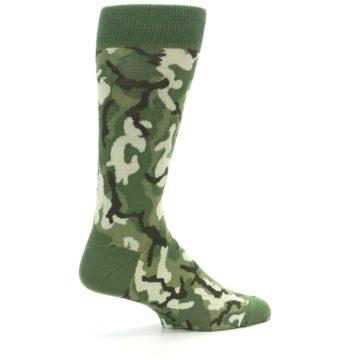 Image of Greens Camouflage Men's Dress Socks (side-1-23)