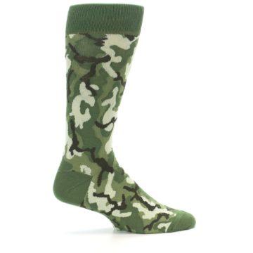 Image of Greens Camouflage Men's Dress Socks (side-1-24)