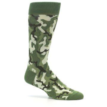 Image of Greens Camouflage Men's Dress Socks (side-1-25)