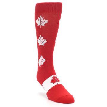 Image of Red Canadian Maple Leaf Men's Dress Socks (side-1-front-02)