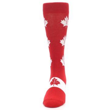 Image of Red Canadian Maple Leaf Men's Dress Socks (front-05)