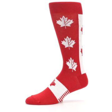 Image of Red Canadian Maple Leaf Men's Dress Socks (side-2-10)
