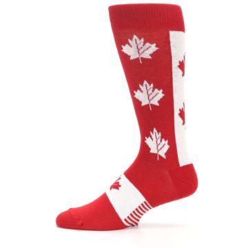 Image of Red Canadian Maple Leaf Men's Dress Socks (side-2-11)