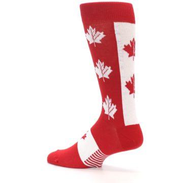 Image of Red Canadian Maple Leaf Men's Dress Socks (side-2-13)
