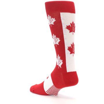 Image of Red Canadian Maple Leaf Men's Dress Socks (side-2-back-14)
