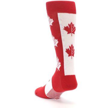Image of Red Canadian Maple Leaf Men's Dress Socks (side-2-back-15)