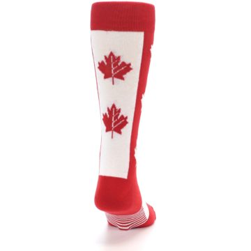 Image of Red Canadian Maple Leaf Men's Dress Socks (back-19)