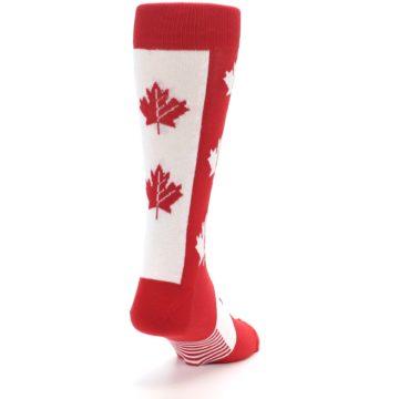 Image of Red Canadian Maple Leaf Men's Dress Socks (side-1-back-20)