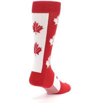 Image of Red Canadian Maple Leaf Men's Dress Socks (side-1-back-21)