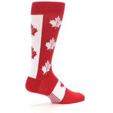 Image of Red Canadian Maple Leaf Men's Dress Socks (side-1-23)