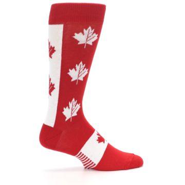 Image of Red Canadian Maple Leaf Men's Dress Socks (side-1-24)