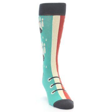 Image of Red Teal Bowling Men's Dress Socks (side-1-front-03)