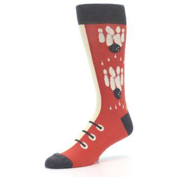 Image of Red Teal Bowling Men's Dress Socks (side-2-09)