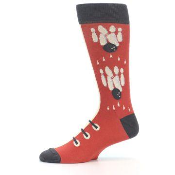 Image of Red Teal Bowling Men's Dress Socks (side-2-11)