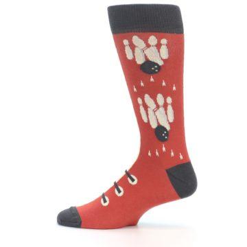 Image of Red Teal Bowling Men's Dress Socks (side-2-12)