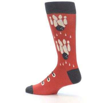 Image of Red Teal Bowling Men's Dress Socks (side-2-13)