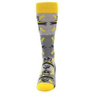 Image of Grey Yellow Kayaking Men's Dress Socks (front-05)