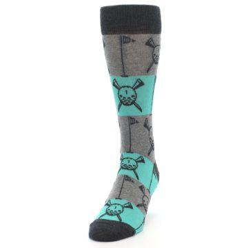 Image of Grey Teal Golf Men's Dress Socks (side-2-front-06)