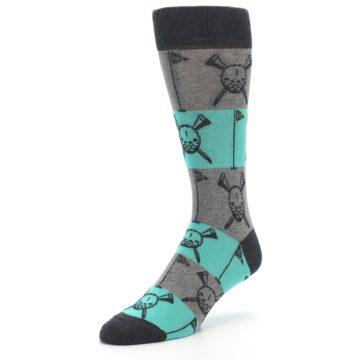 Image of Grey Teal Golf Men's Dress Socks (side-2-front-08)
